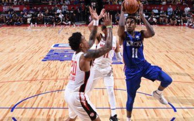 Knicks Jazz Summer League Recap Frank Ntilikina Steps Up & Kyle O'Quinn Exits Team With Shade